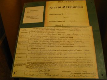 St. Gianna and Pietro Molla's Marriage license