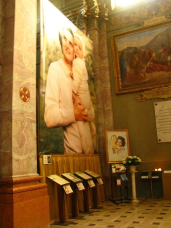 St. Gianna and one of her children, Magenta, Italy